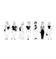 silhouettes girls young women vector image vector image