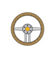 sports car steering wheel icon flat vector image vector image