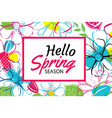 spring season banner template background vector image vector image