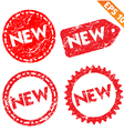 Stamp stitcker product tag collection - - E vector image vector image