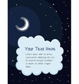 starry night cartoon background vector image