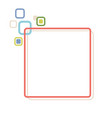 stylized abstract frame vector image vector image