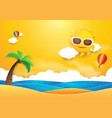 summer time banner design sun with hot air vector image
