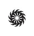 swirl rotation turbine industrial curves logo vector image vector image
