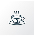 tea icon line symbol premium quality isolated vector image