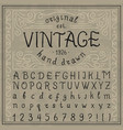 vintage whiskey font handwritten alphabet letters vector image vector image