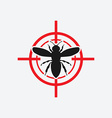 wasp icon red target vector image