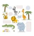 Zoo animal set vector image