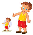 little boy with a rash on his hands and vector image