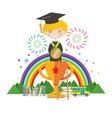 Graduation Student To Success Education Concept vector image