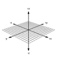 3d coordinate axis vector image vector image