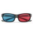 3d plastic glasses stock vector image vector image