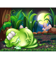 A monster sleeping in the forest vector image vector image