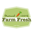A natural farm fresh label vector image vector image