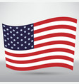 america flag icon vector image vector image