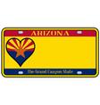 arizona state license plate vector image vector image