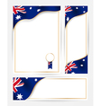 Australian flag banners set vector image vector image