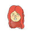 avatar woman head with hairstyle design
