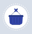 basket with hundle shopping icon concept flat vector image vector image