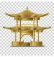 beautiful chinese pagoda in golden colors vector image