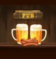 beer pub vector image vector image