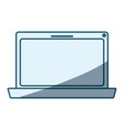 blue shading silhouette of laptop computer vector image vector image