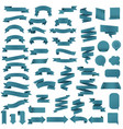 blue web ribbon set vector image vector image