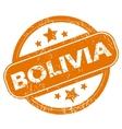 Bolivia grunge icon vector image vector image
