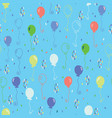 bright party balloons pattern vector image vector image