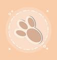 bunny paw print icon vector image vector image