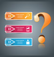Business infographics question mark