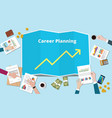 career planning with increase or profit graph vector image