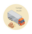cargo truck icon paper boxes delivery vehicle vector image