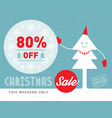 christmas sale this weekend only special offer vector image vector image