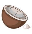 coconut spices icon cartoon style vector image