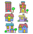 collection stock of house set vector image vector image