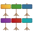 Colorful empty signboards vector image vector image