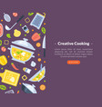 creative cooking landing page template online vector image vector image