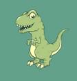 cute little dinosaur raptor vector image