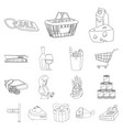 design of food and drink icon collection vector image