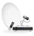 digital satellite receiver 03 vector image