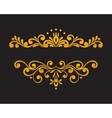 Elegant luxury vintage gold floral border vector image vector image