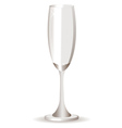 Empty champagne glass vector image