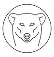 female polar bear logo outline style vector image vector image