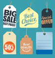 flat design sale tags vector image