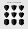 flat shield set geometric premium logo icon vector image vector image