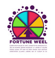 fortune wheel made of colorful segments with vector image vector image