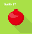 garnet icon flat style vector image vector image