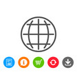globe line icon world or earth sign vector image