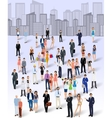 Group of people in the city vector image vector image